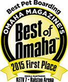Pet Boarding First Place Best of Omaha 2015