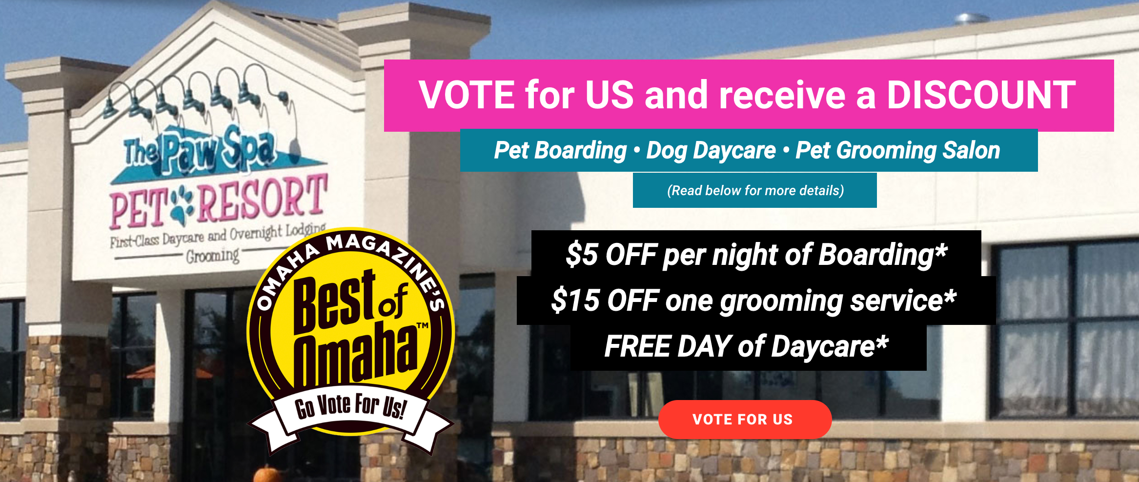 vote Paw Spa for Best of Omaha